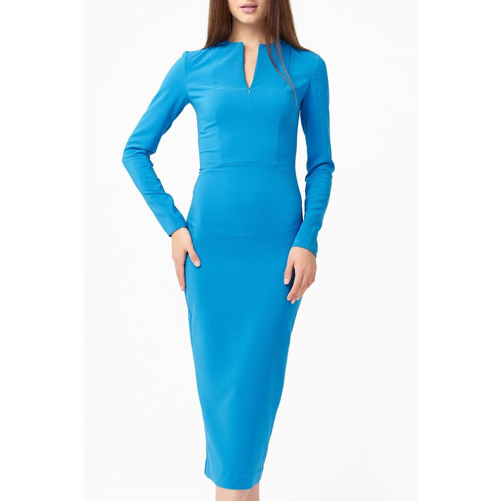 Flattering blue midi dress - Sorta Stuff