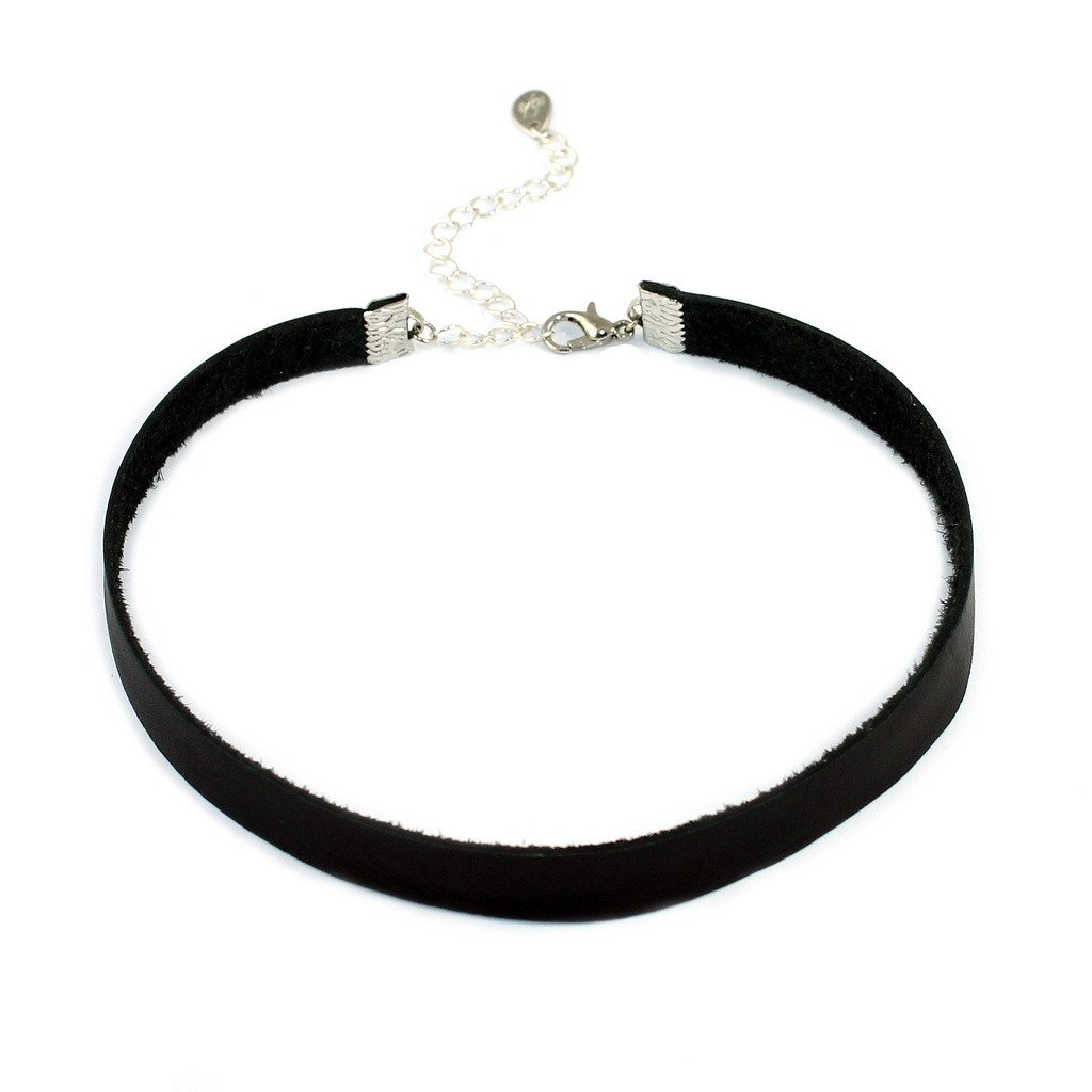 Genuine Leather Choker Necklace - Sorta Stuff