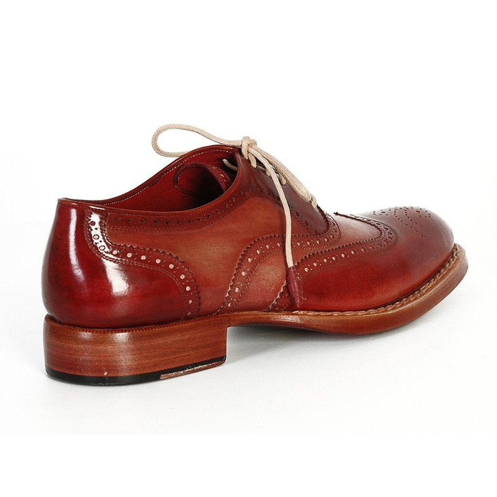 Paul Parkman Men's Wingtip Oxfords Bordeaux & Camel (ID#027B) - Sorta Stuff