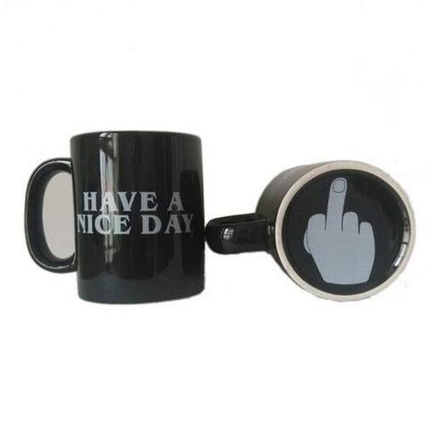 Have a Nice Day Coffee Mug Middle Finger Funny Cup