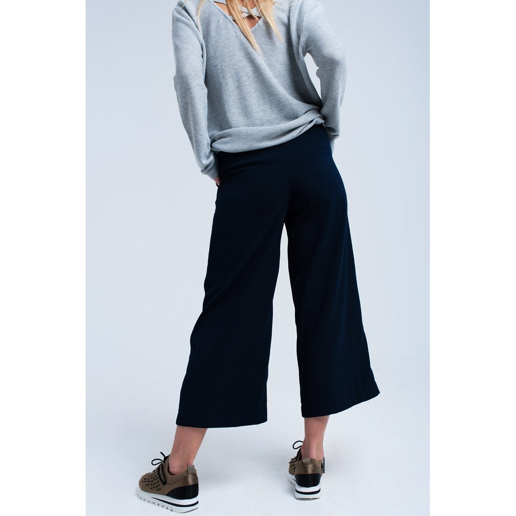 Navy pants wide leg - Sorta Stuff