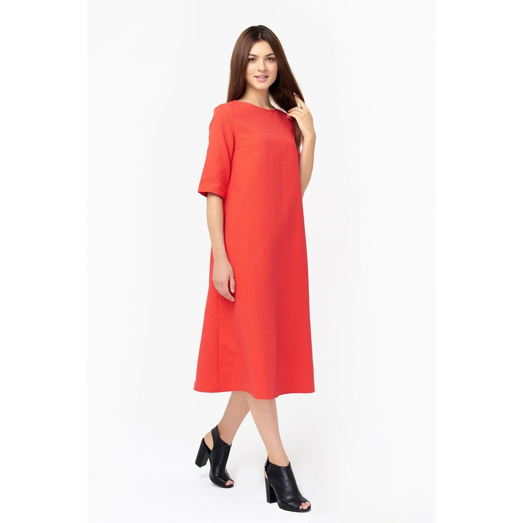 Trendy coral dress