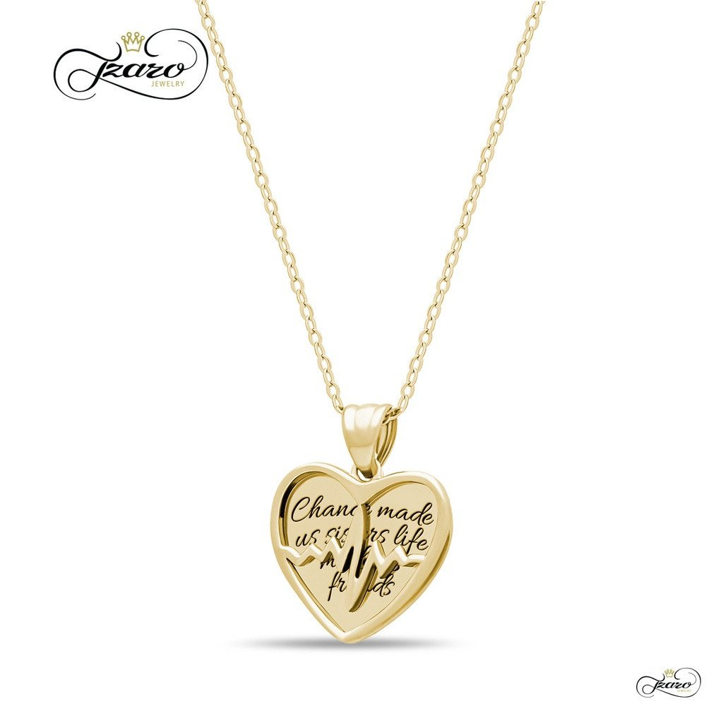 Sister Two Heart Necklace, 925 Silver, 14K Gold Plated Best Sister Forever Necklace - Sorta Stuff
