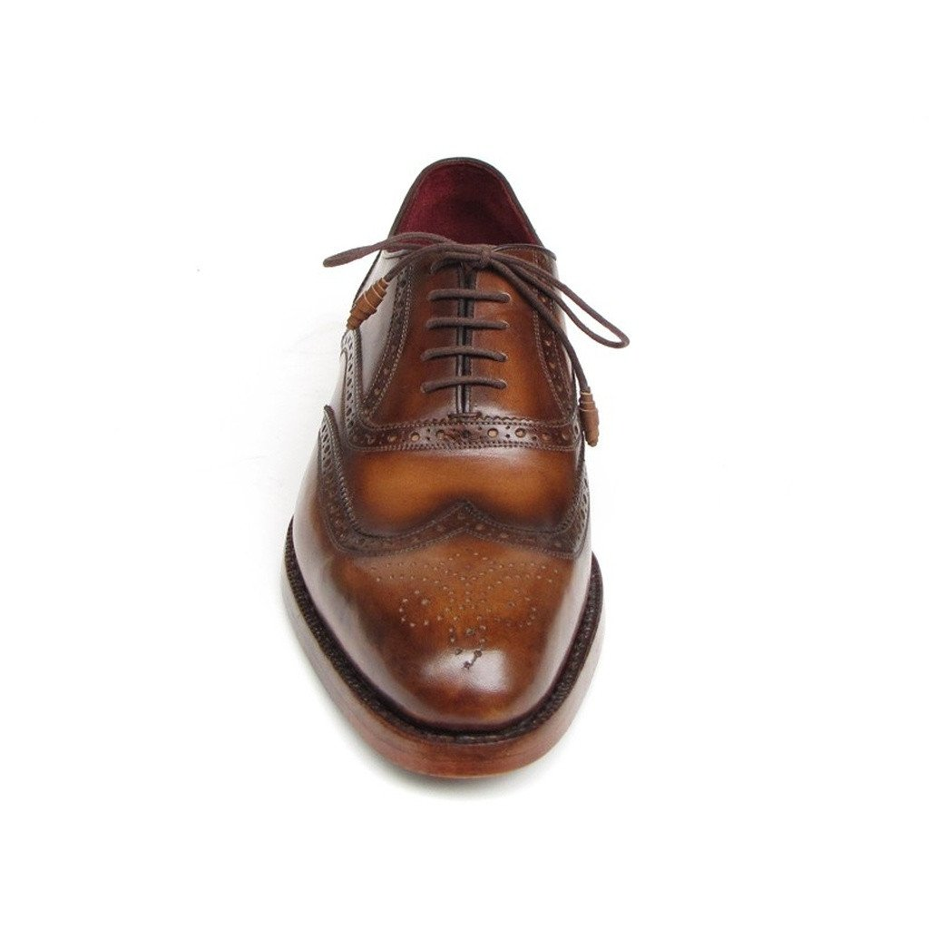 Paul Parkman Men's Wingtip Oxford Goodyear Welted Tobacco (ID#027-TAB) - Sorta Stuff