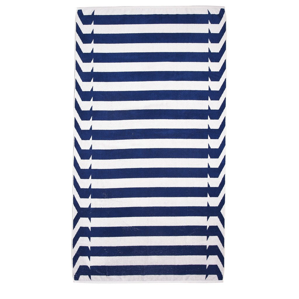 Blue Nautical Stripes Beach Towel - Sorta Stuff