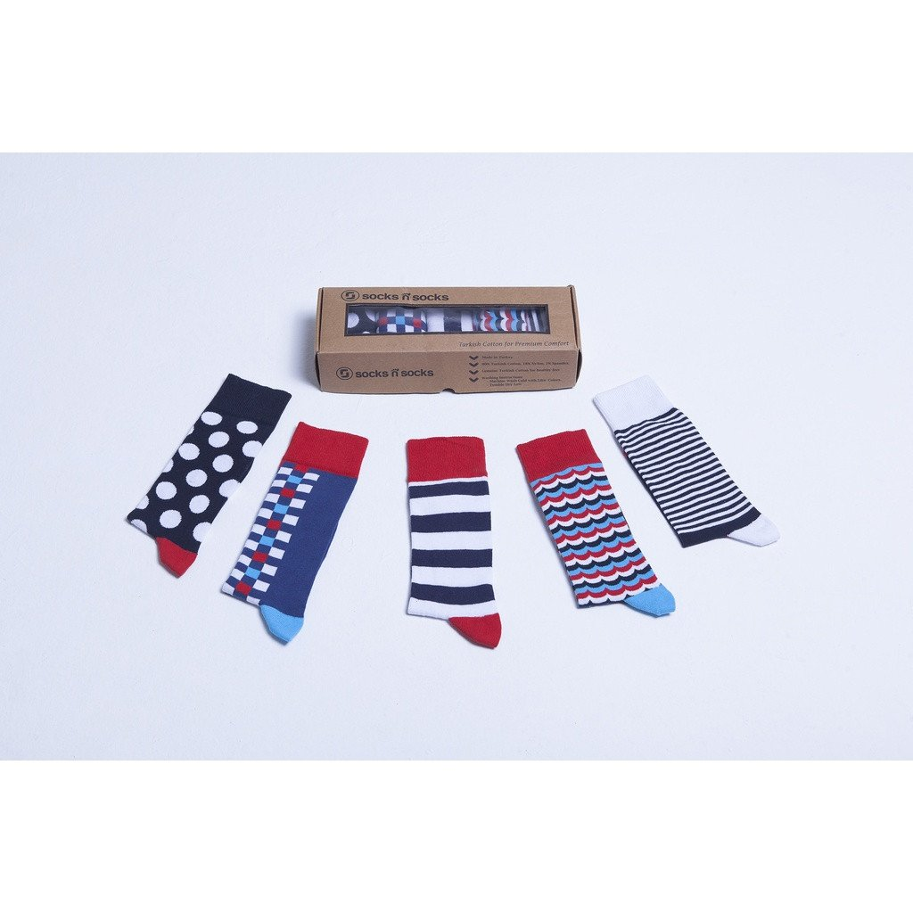 Men's 5-Pair Cool Mix Socks - Sorta Stuff