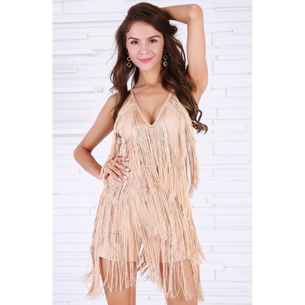 Beige Fringe Play Suit - Sorta Stuff