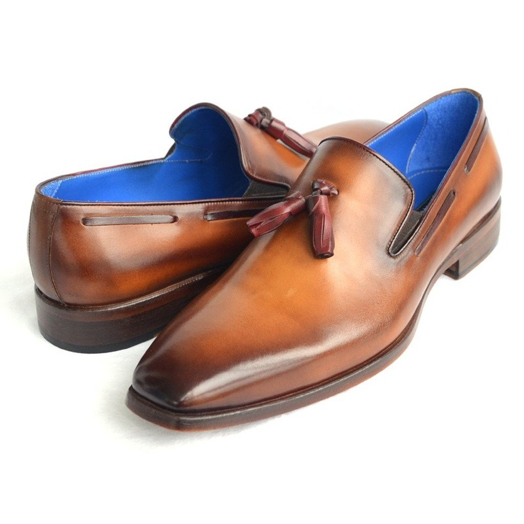 Paul Parkman Men's Tassel Loafer Walnut Leather Sole Leather Upper (ID#5141-WALNUT) - Sorta Stuff