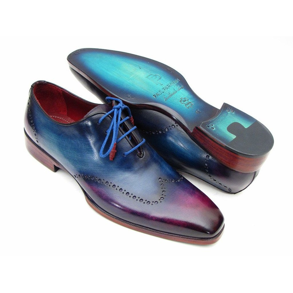 Paul Parkman Men's Blue & Purple Wingtip Oxfords (ID#084VX55) - Sorta Stuff
