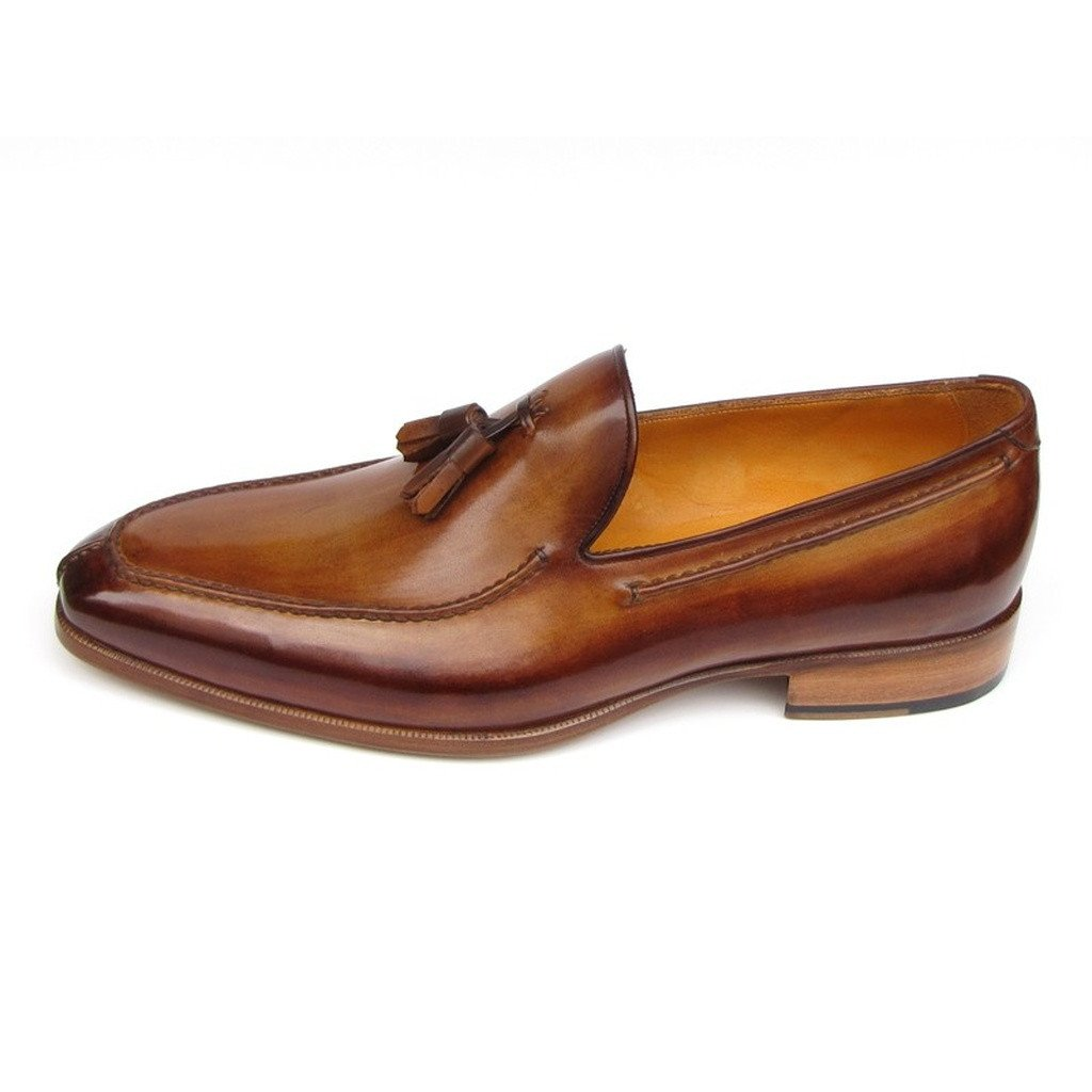 Paul Parkman Men's Tassel Loafer Camel & Brown  (ID#083-CML) - Sorta Stuff