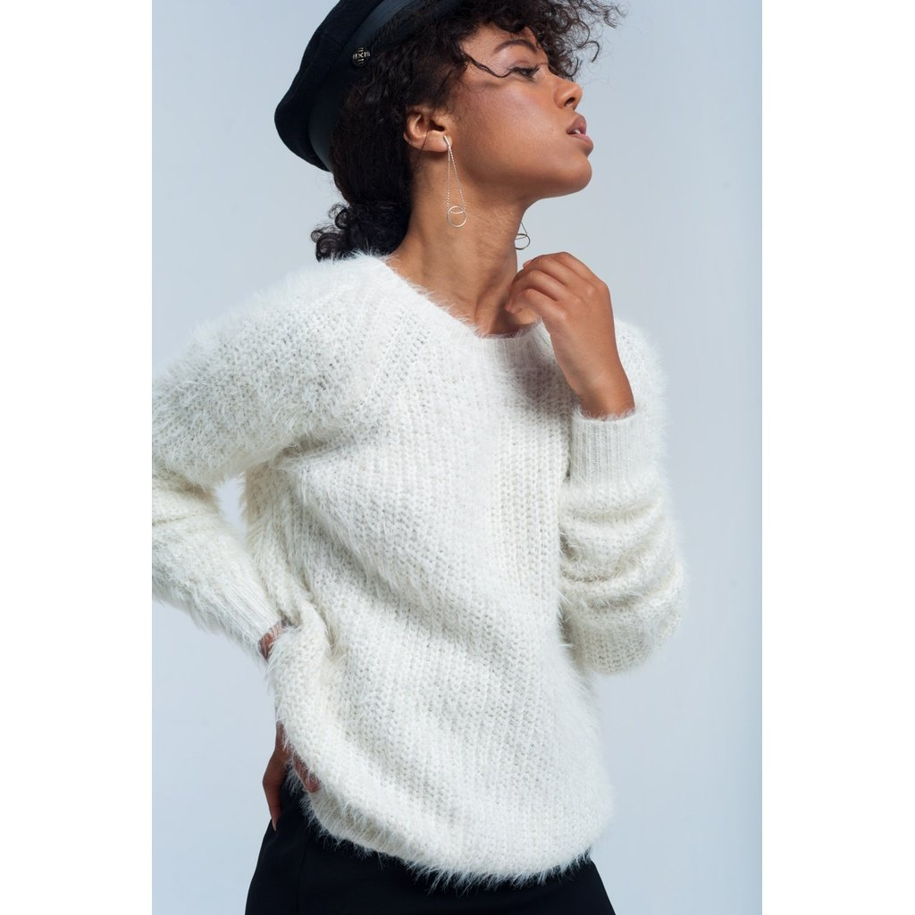 Cream knit sweater - Sorta Stuff