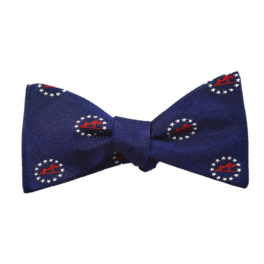 Newport Bridge 4th of July Bow Tie - Woven Silk - Sorta Stuff