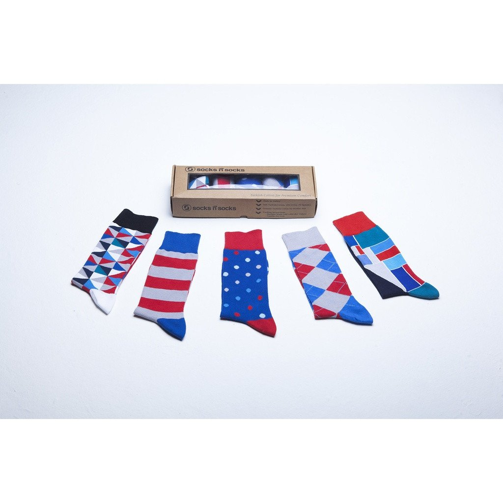 Men's 5-Pair Colorful Mix Socks - Sorta Stuff