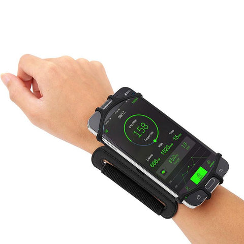 180 Degree Rotatable Running Wristband Phone Case Arm Band Sport Cycling Gym Wristlet Belt Armband Bag