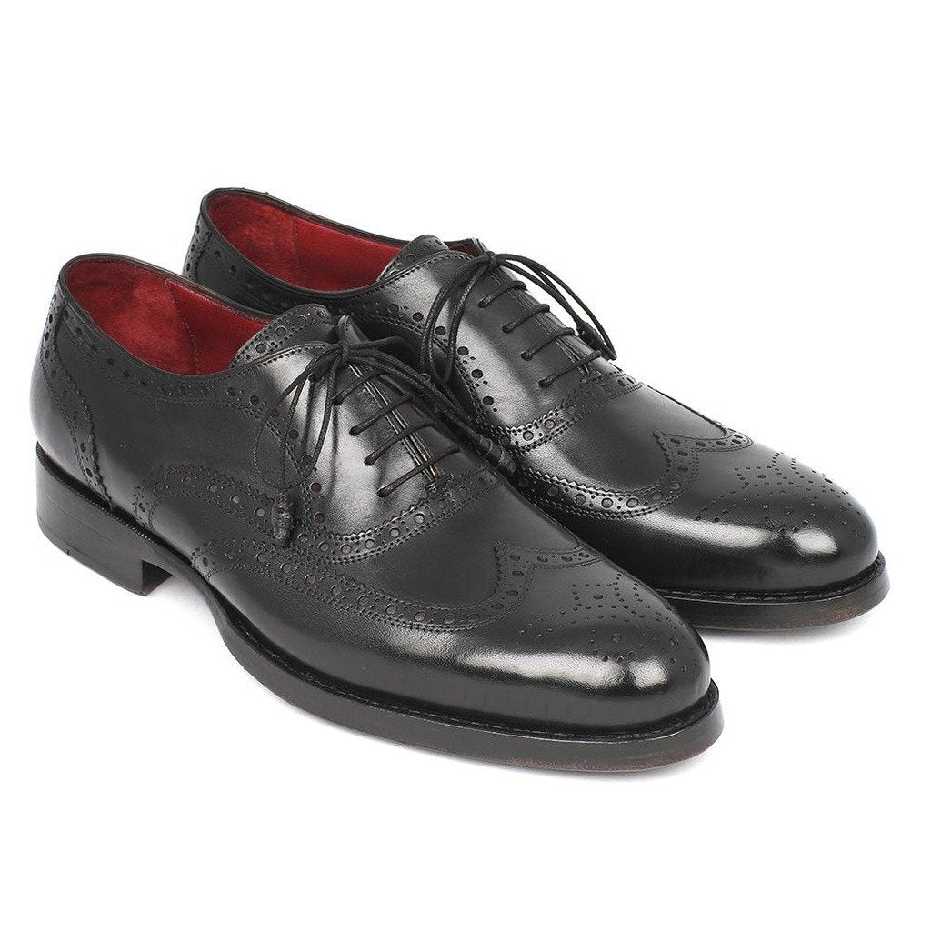 Paul Parkman Men's Wingtip Oxford Goodyear Welted Black (ID#027-BLK) - Sorta Stuff