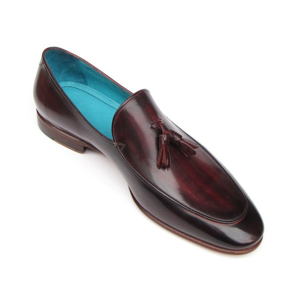 Paul Parkman Men's Tassel Loafer Black & Purple Shoes (ID#049-BLK-PURP) - Sorta Stuff