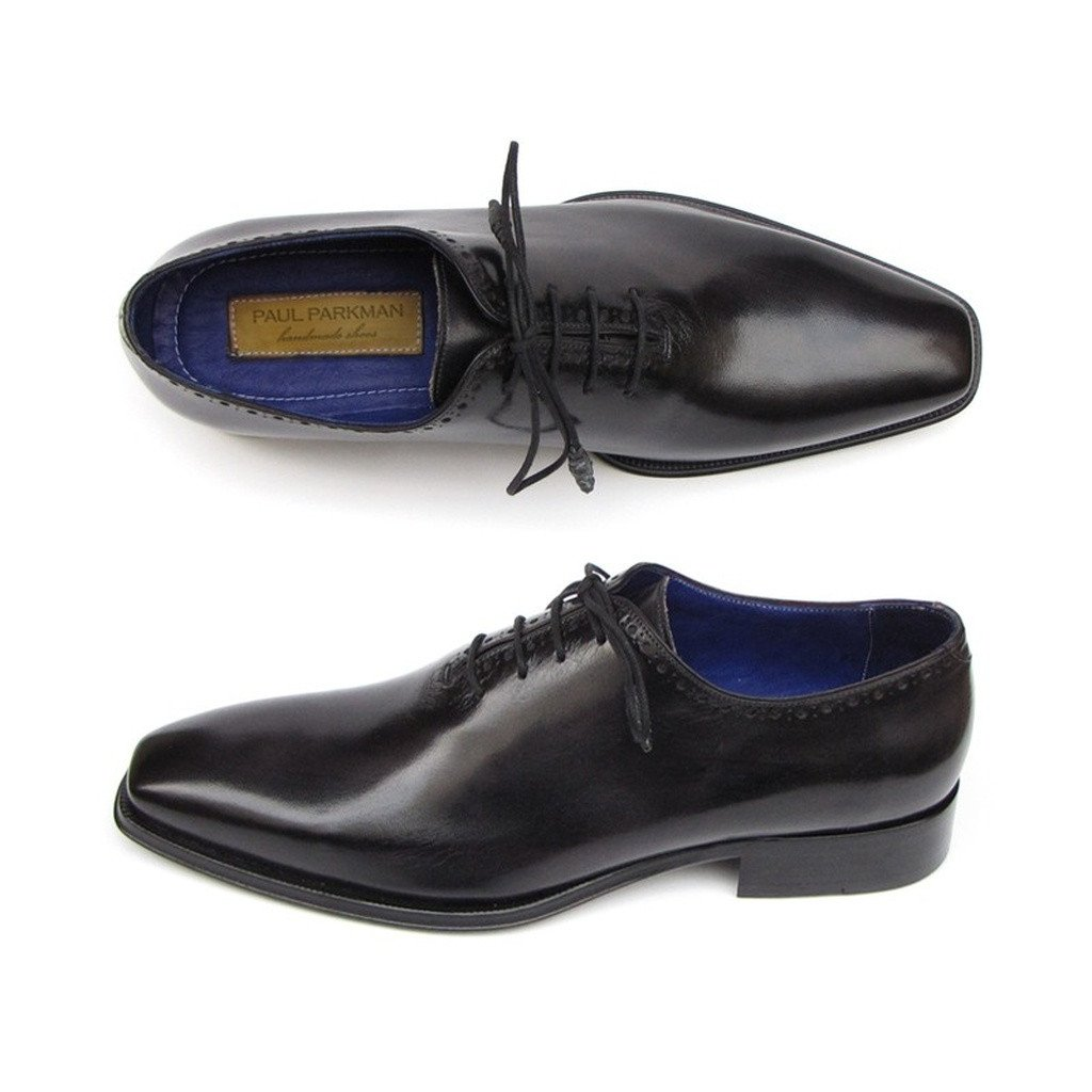 Paul Parkman Men's Plain Toe Oxfords Whole-cut Black (ID#025-BLK) - Sorta Stuff