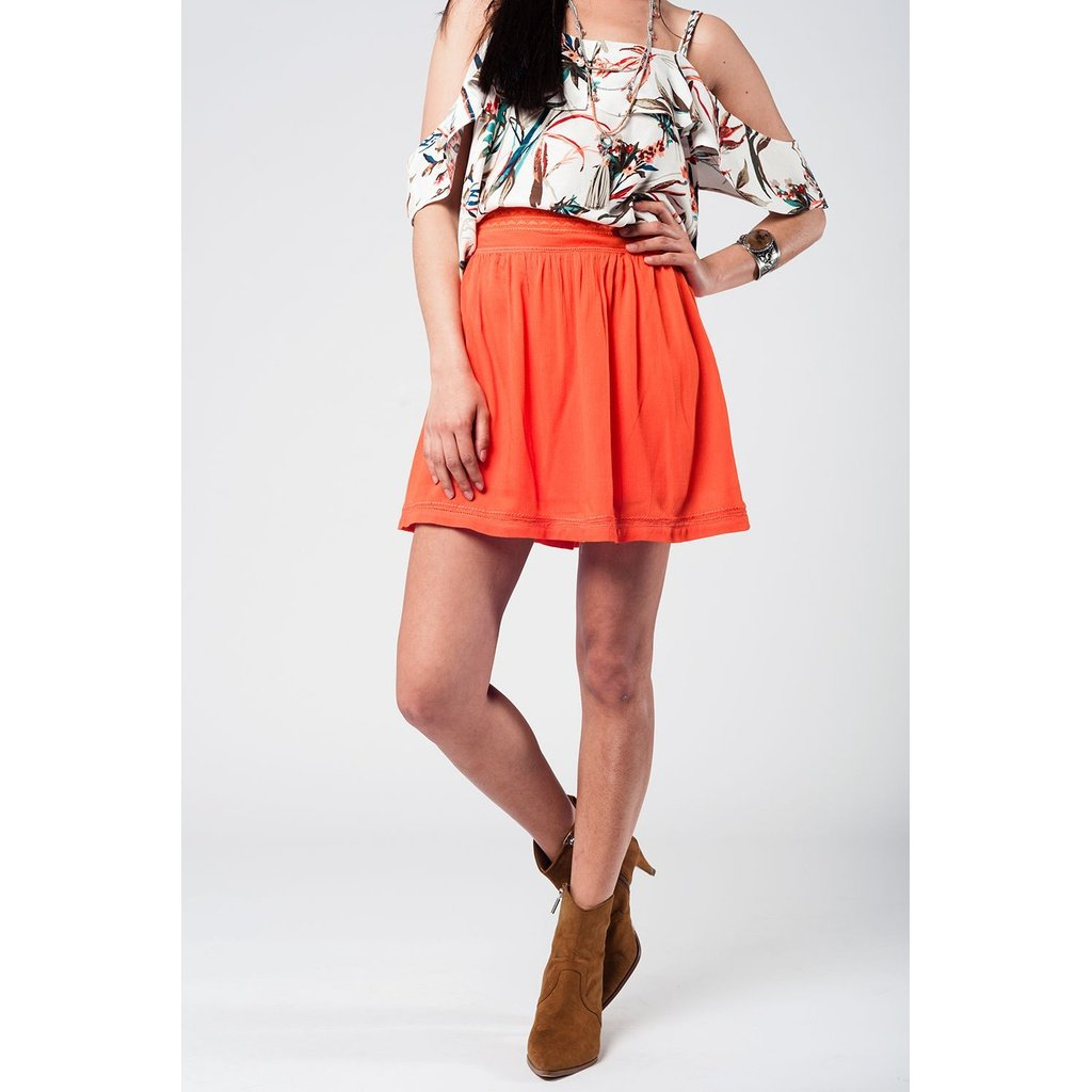 Aztec orange mini skirt - Sorta Stuff