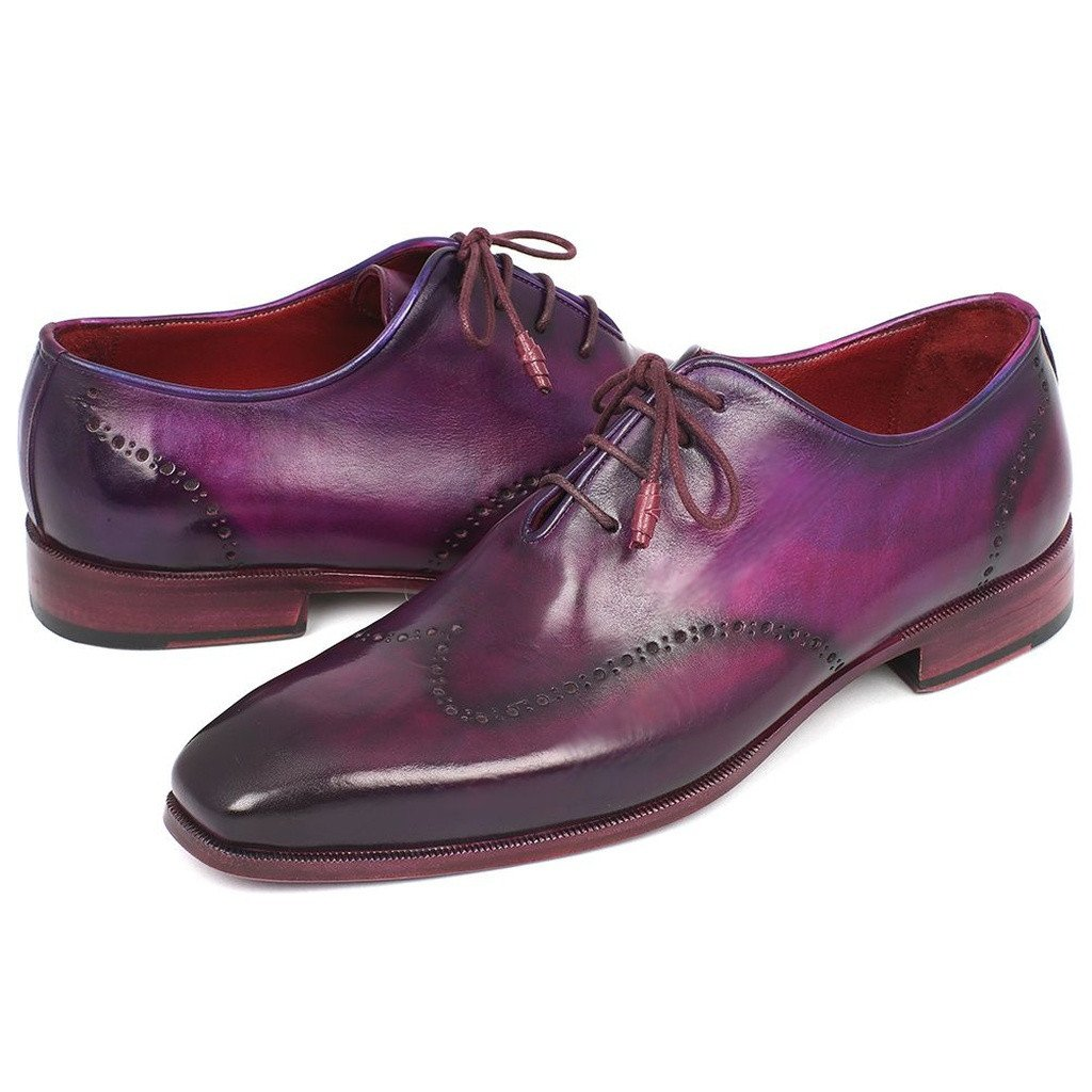 Paul Parkman Men's Purple Wingtip Oxfords (ID#84HT12) - Sorta Stuff