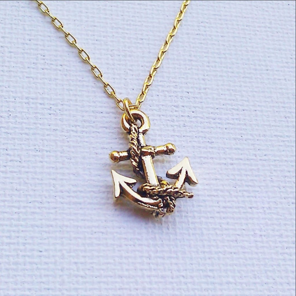 Gold Anchor Necklace - Sorta Stuff