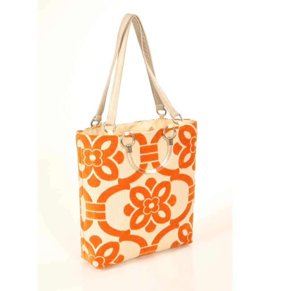 Stencil Orange Large Tote - Sorta Stuff