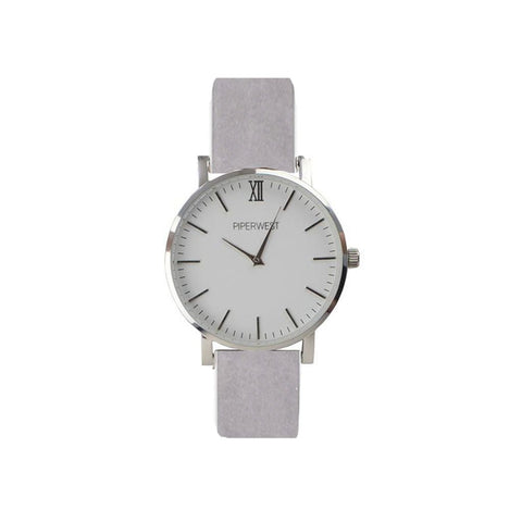 MINI MINIMALIST 32MM SILVER/GREY SUEDE