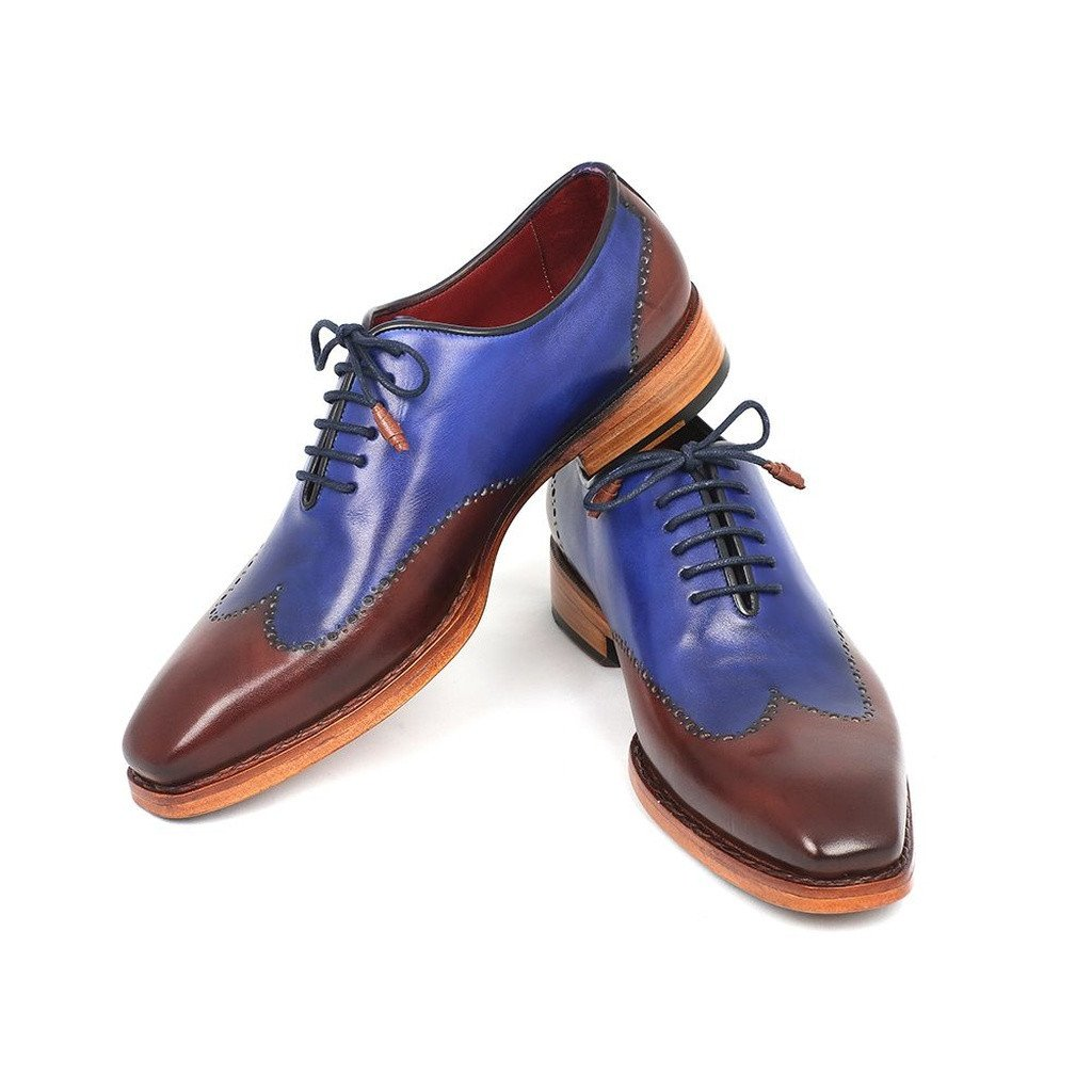 Paul Parkman Men's Wingtip Oxford Goodyear Welted Blue & Brown (ID#81BLU57) - Sorta Stuff