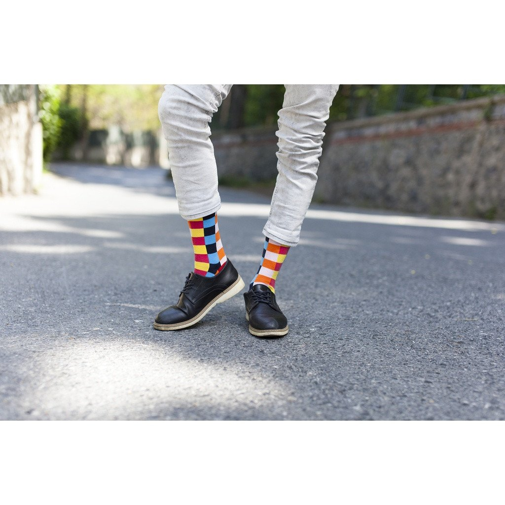 Men's 5-Pair Colorful Patterned Socks - Sorta Stuff