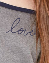 Load image into Gallery viewer, Love Slouchy Sweatshirt in Grey/Navy