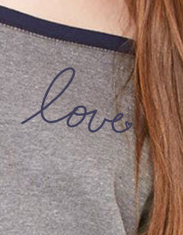 Love Slouchy Sweatshirt in Grey/Navy