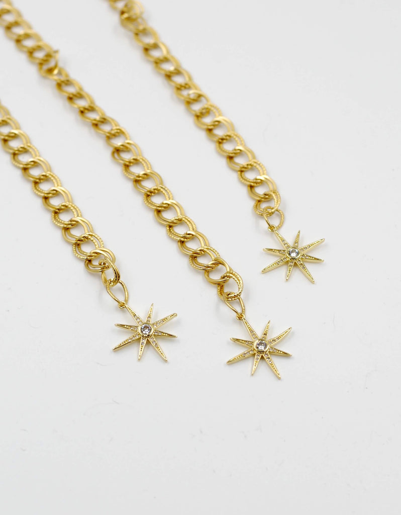 Golden Chain Bracelet | Gold Star