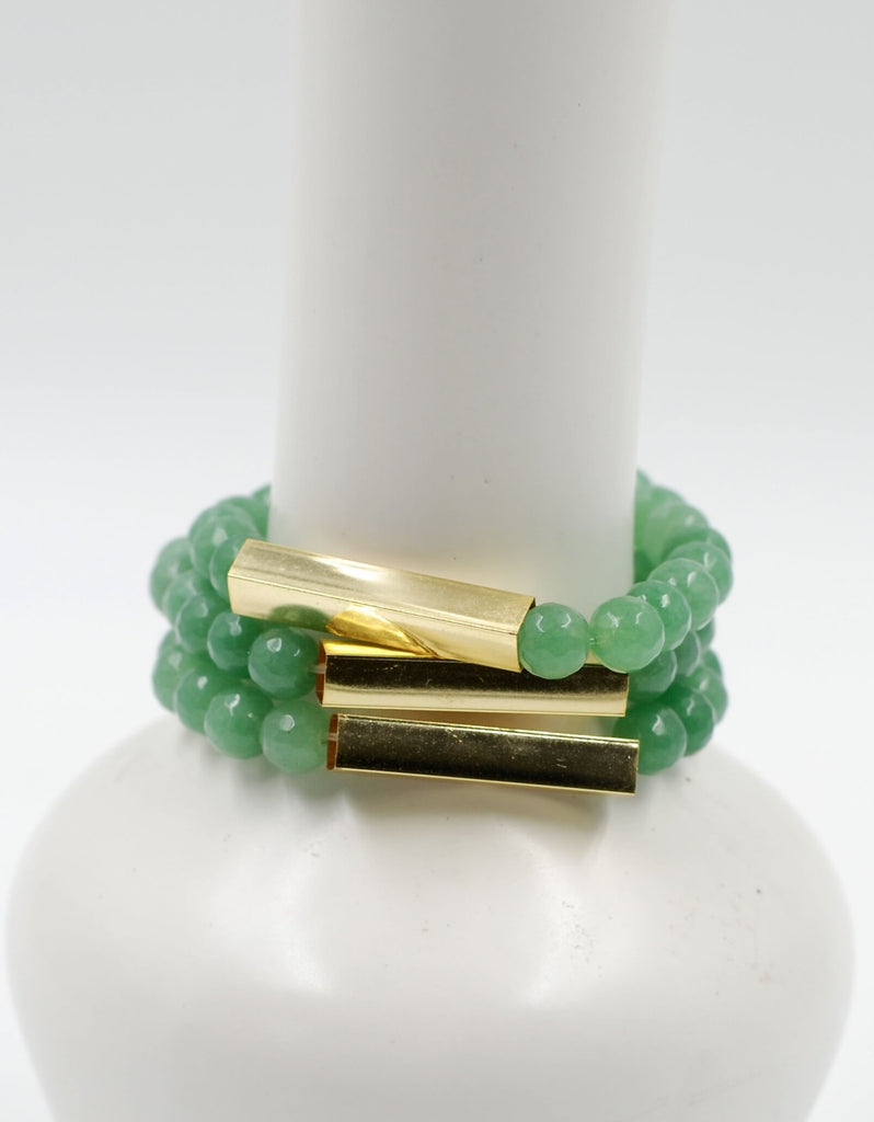 Golden Bar Bracelet | Green