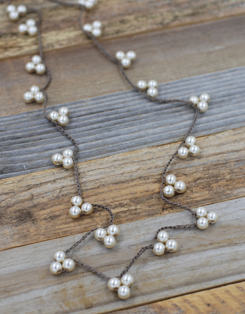 VG Basics Triple Pearl Long Necklace