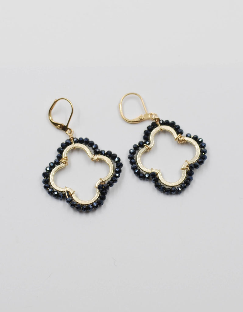 Gia Beaded Earring | Black