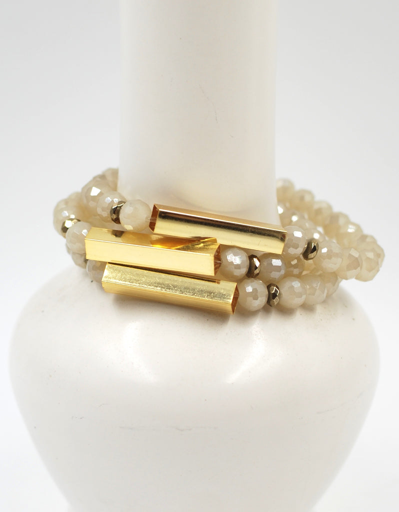 Golden Bar Bracelet | Coastal Fog