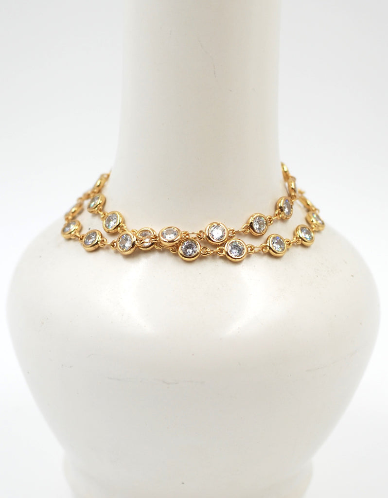 Golden Crystal Chain Bracelet