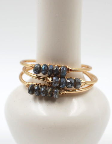 Beaded Cuff | Labradorite
