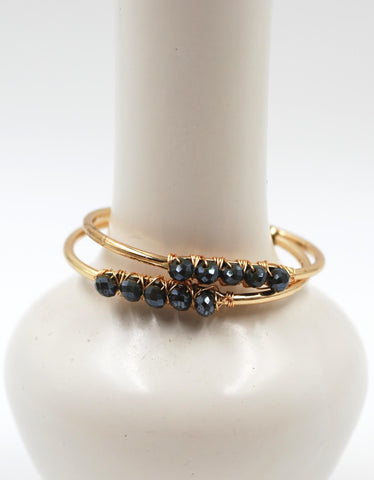 Beaded Cuff | Nightfall