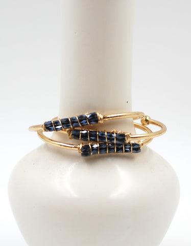 Beaded Cuff | Midnight