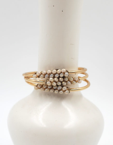 Beaded Cuff | Coastal Fog