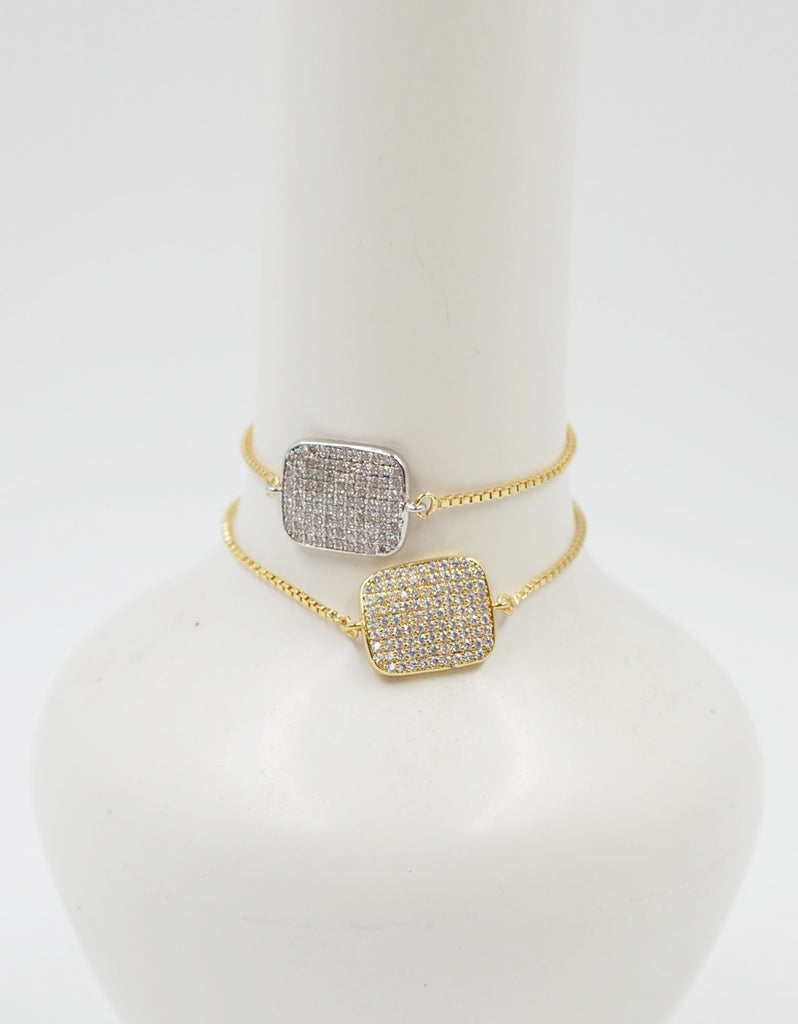 Golden Crystal Sliding Bracelet | Tag