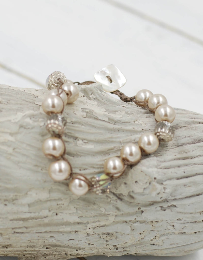 Perfect Stacking Bracelet | Taupe Pearl
