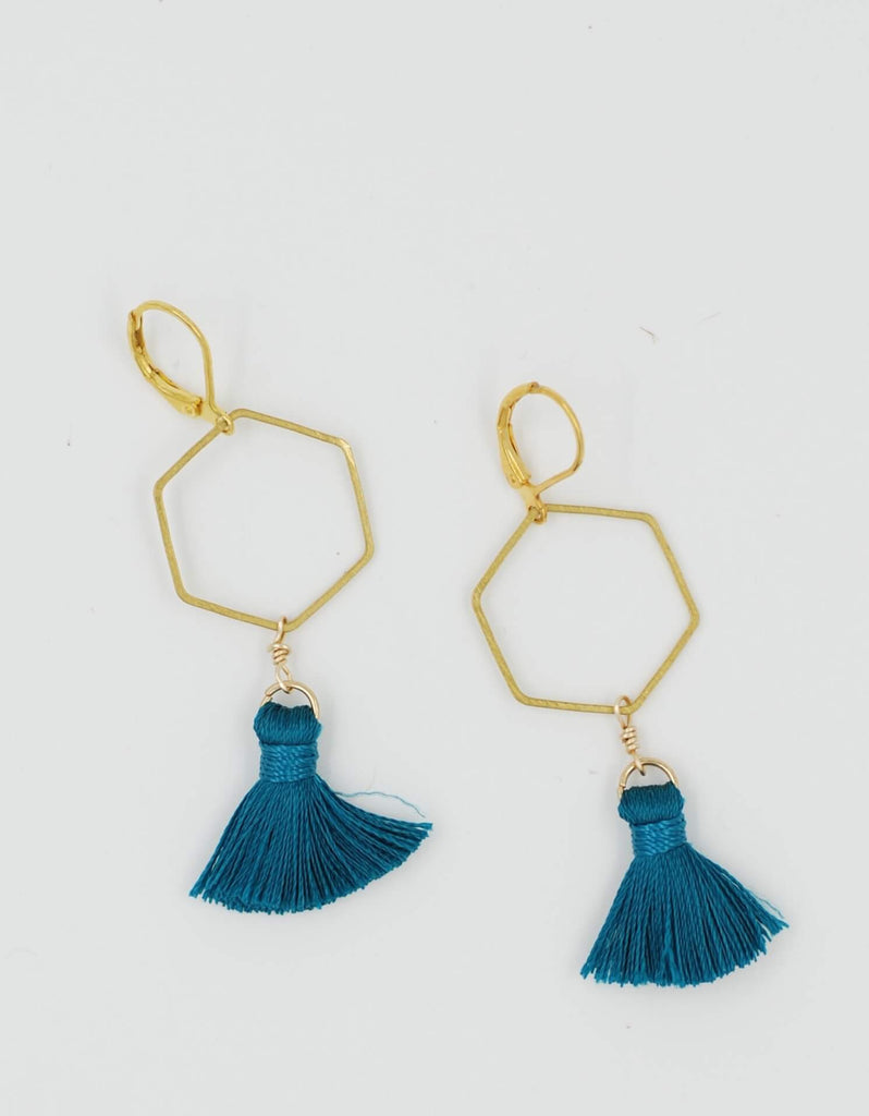 Madison Earring | Teal