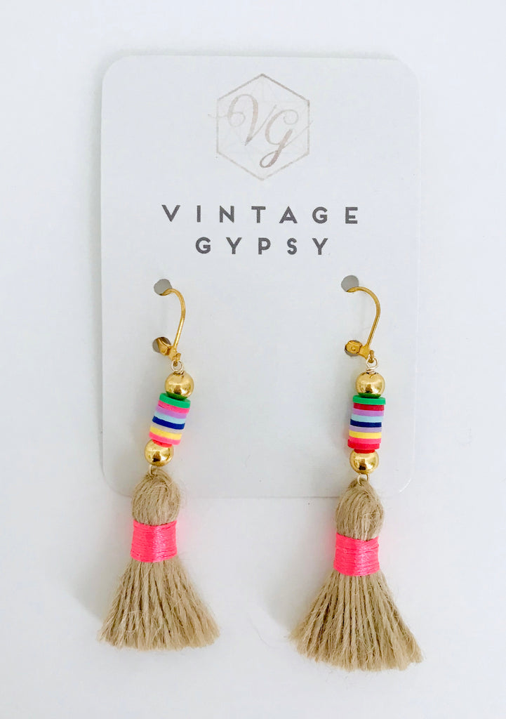 Emma Earrings | Hot Pink