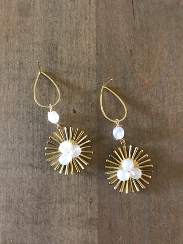 Bloom Studs | White