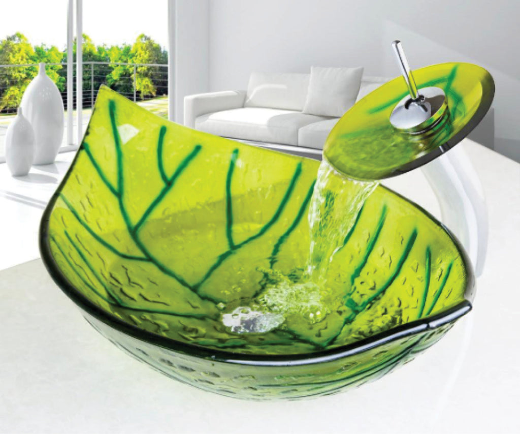 Colourful New Designs: Glass Vessel Basins