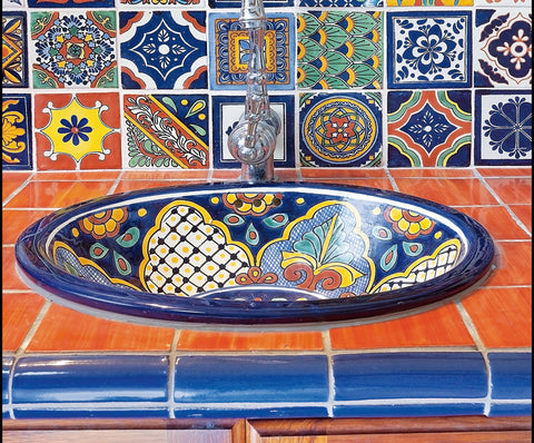 Mexican hand-painted talavera designs