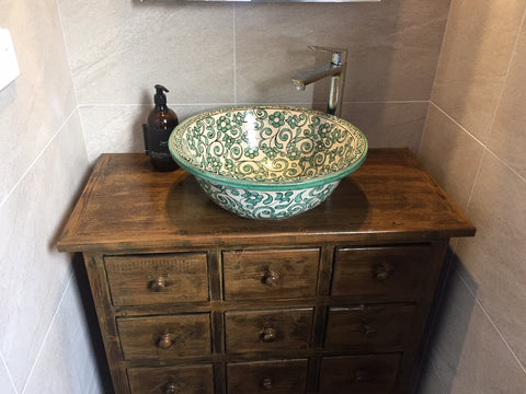 vessel basin bathroom sink