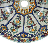 Moroccan DILMA Hand-Painted Bathroom Sink