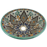 Moroccan KAMA Hand-Painted Bathroom Sink